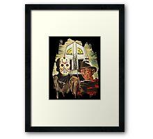 Freddy vs Jason Horror American Gothic Framed Print