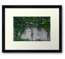 The Green Can Never Be Blocked Framed Print