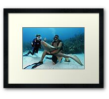Shark Whisperer Framed Print