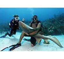 Shark Whisperer Photographic Print