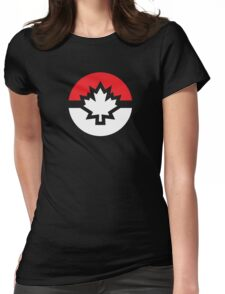 Canada Pokemon Logo Pokeball Womens Fitted T-Shirt