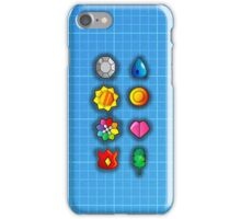 Pokemon Kanto Gym Badges! iPhone Case/Skin