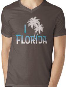 I Love Florida - Palm Tree Mens V-Neck T-Shirt
