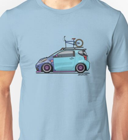 Slammed Toyota Scion iQ With BMX Bike Unisex T-Shirt