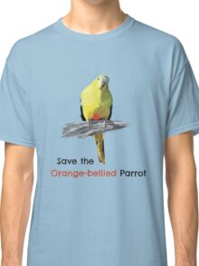Orange-bellied Parrot products (light background colours) Classic T-Shirt