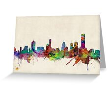 Melbourne Skyline Cityscape Greeting Card