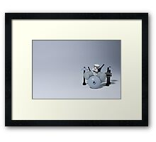 Drumming up a storm Framed Print