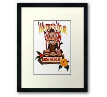 Spanx The Monkey Framed Print