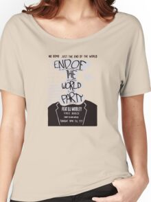 Mr. Robot End of the World Party Tee Women's Relaxed Fit T-Shirt