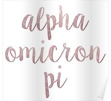 Alpha Omicron Pi Poster