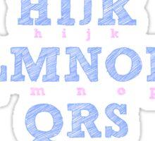 Alphabet Pink & Blue  Sticker