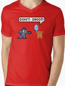 Mega Man Robs Link Mens V-Neck T-Shirt