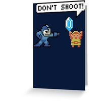 Mega Man Robs Link Greeting Card