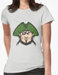 Pirate Mascot Face  Womens Fitted T-Shirt
