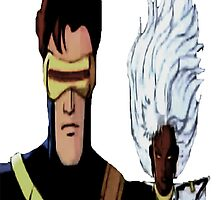 Cyclops & Storm by ludvis