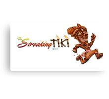 The Streaking Tiki Canvas Print