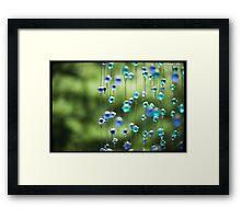 Zen Beads Framed Print
