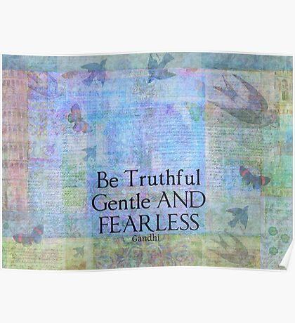 Motivational spiritual quote Gandhi Poster