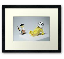 Lego Modern Art Framed Print
