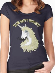 Think Happy Thoughts Women's Fitted Scoop T-Shirt