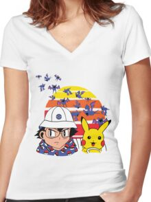 Zubat Country Women's Fitted V-Neck T-Shirt