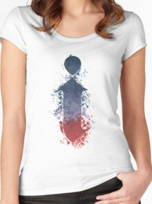 i - Kendrick Lamar Painted Splatter Women's Fitted Scoop T-Shirt