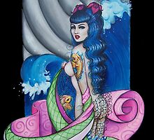 Koi tattoo, Kimono waves by Isobel Von Finklestein