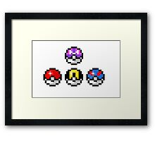 Pokemon Poke Balls Framed Print
