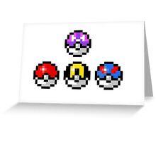 Pokemon Poke Balls Greeting Card
