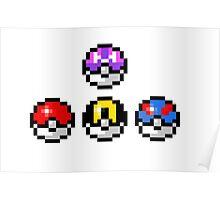 Pokemon Poke Balls Poster