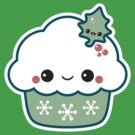 Green Christmas Cupcake by sugarhai