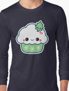 Green Christmas Cupcake Long Sleeve T-Shirt