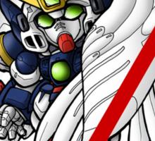 Heero Yuy and Wing Gundam Zero - Chibilette Sticker