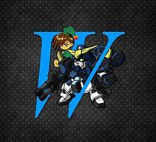 Trowa Barton and Gundam Heavyarms - Chibilette by coffeewatson