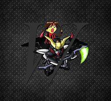 Duo Maxwell and Gundam Deathscythe by coffeewatson