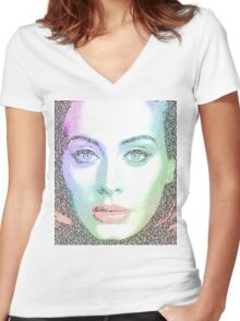 Adele (with lyrics from 'Hello') Women's Fitted V-Neck T-Shirt