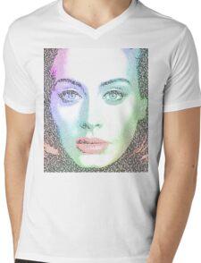 Adele (with lyrics from 'Hello') Mens V-Neck T-Shirt
