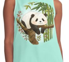 Panda under Sunlight - Mint Contrast Tank