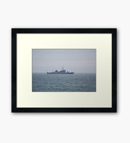 L.É. ORLA  anchored in the bay of Bray. Framed Print
