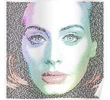 Adele (with lyrics from 'Hello') Poster