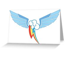 Rainbow Dash Symbol Greeting Card