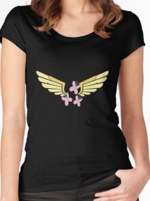 Fluttershy Symbol Women's Fitted Scoop T-Shirt