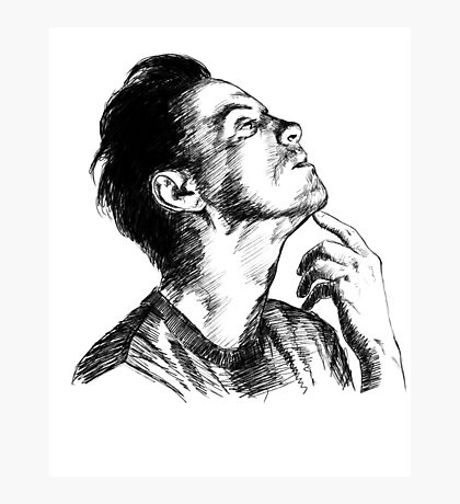 Andrew Scott Scribble Photographic Print