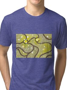 Abstract Yellow Bubbles Digital Drawing Tri-blend T-Shirt