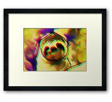 hypno sloth Framed Print