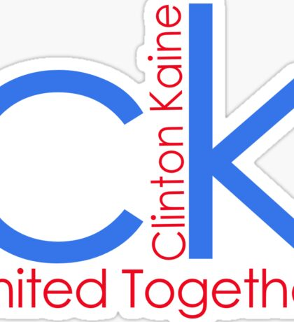 Clinton Kaine 2016: United Together! Sticker