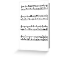 Lord of the Rings - Music Theme notes Greeting Card