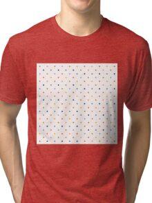 Color Pastel Dots Pattern Design Template Background Tri-blend T-Shirt