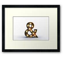 & letter alphabet marquee light Framed Print