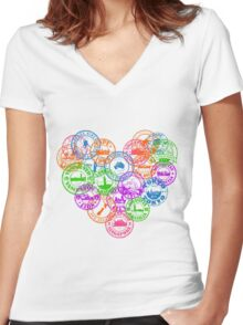 Stamps Women's Fitted V-Neck T-Shirt
